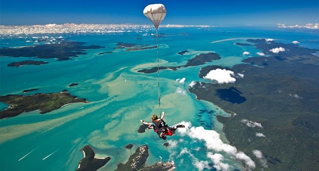 Skydive over Airlie Beach, the Whitsundays
