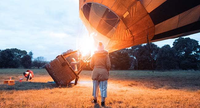 Hot air balloon, Geelong