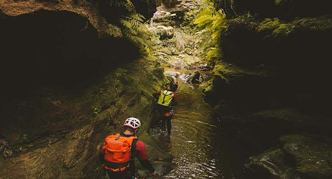 Canyoning adventure, the Blue Mountains