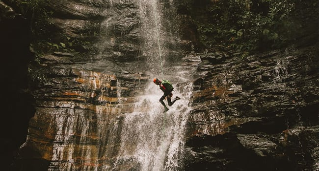 Canyoning tour, the Blue Mountains