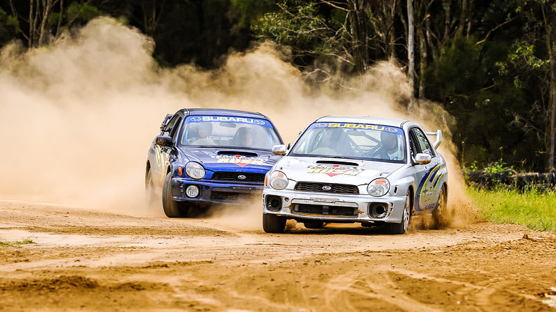 Rally driving 6 laps