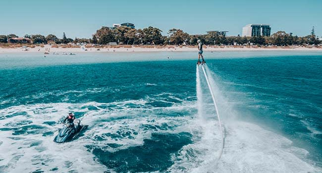 Jet pack or jet board experience