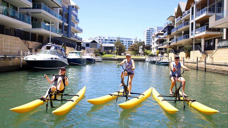 Water Bike Family Group Hire, 1 Hour - Mandurah, Perth