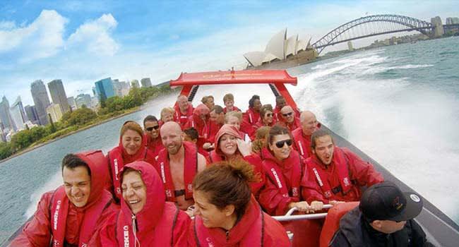 Jet boat ride, Sydney