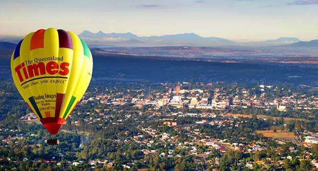 Hot air balloon flight with breakfast