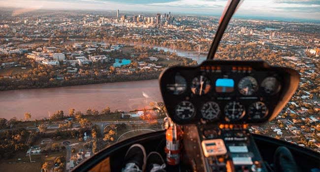Private helicopter flight