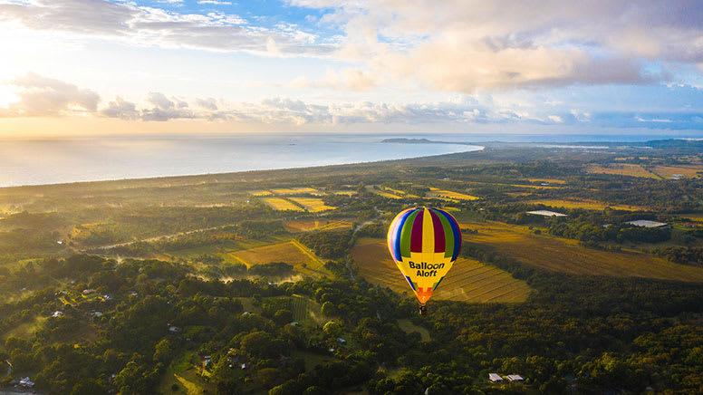 Hot air balloon, Byron Bay