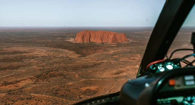 Helicopter scenic flight, Uluru