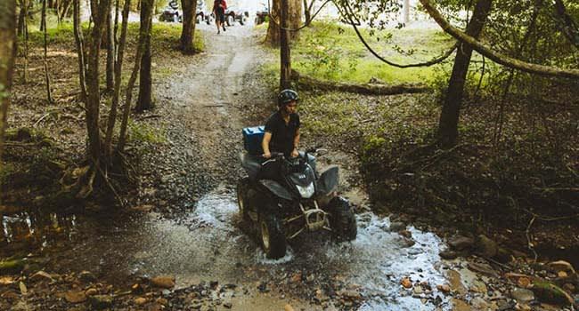 Quad biking adventure, Glenworth Valley