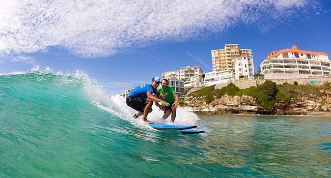 Private surfing lesson, Bondi Beach