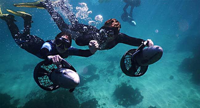 Underwater scooters, Gordon's Bay