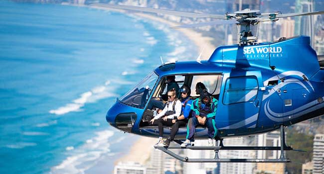 Helicopter skydiving, Surfers Paradise