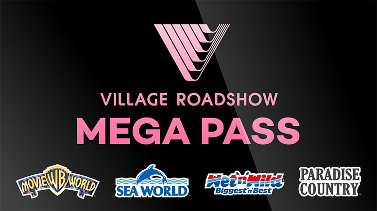 14 Day Mega Pass: Warner Bros. Movie World, Sea World, Wet'n'Wild Gold Coast and Paradise Country