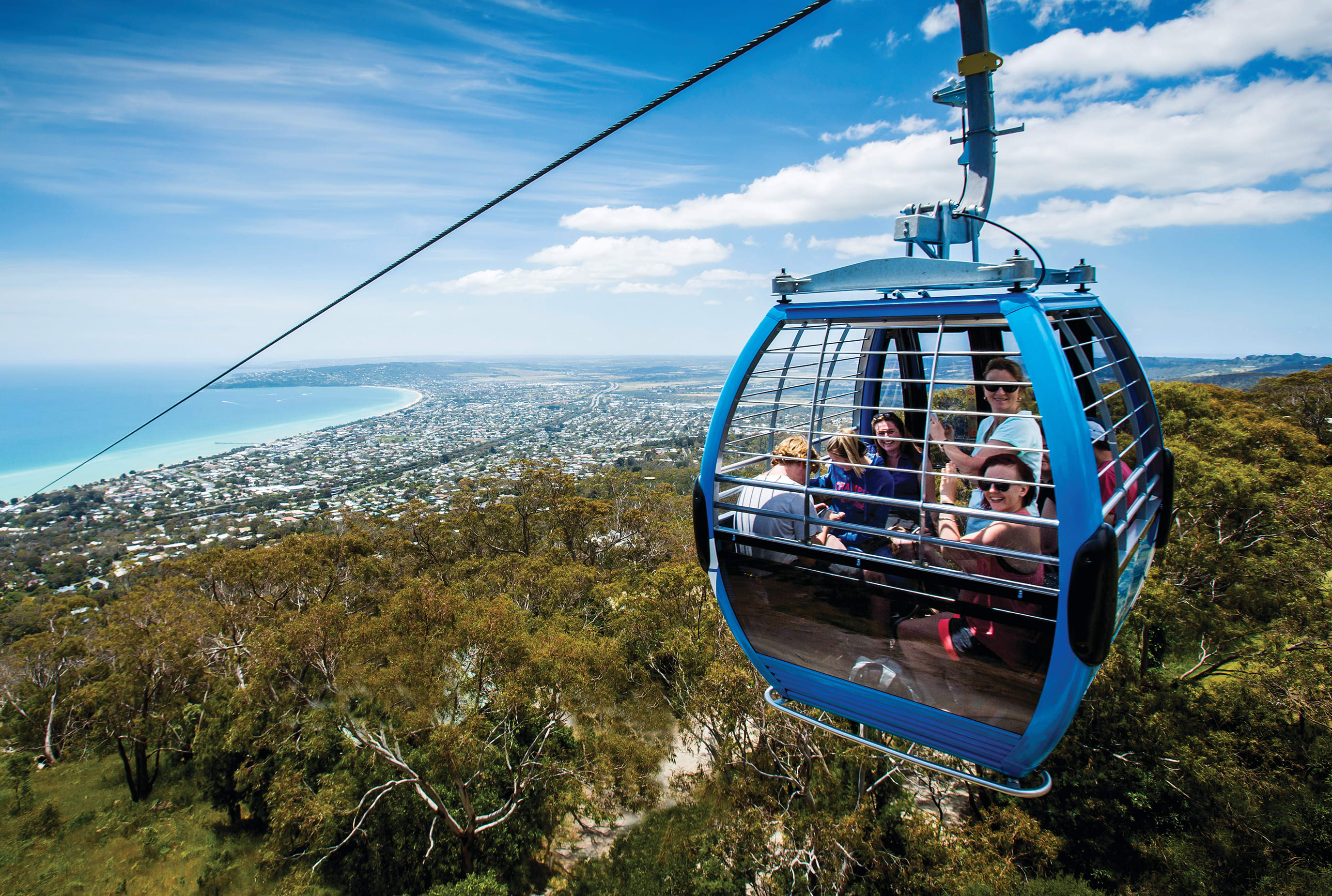 Arthurs Seat Eagle Cable Car Ride and Farmer's Lunch - For 2