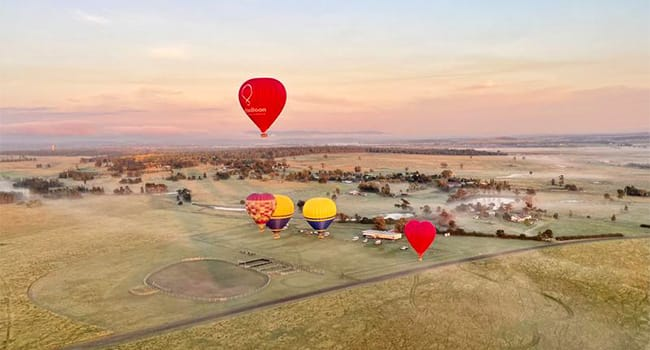 Hot Air Balloon Flight over the Hunter Valley