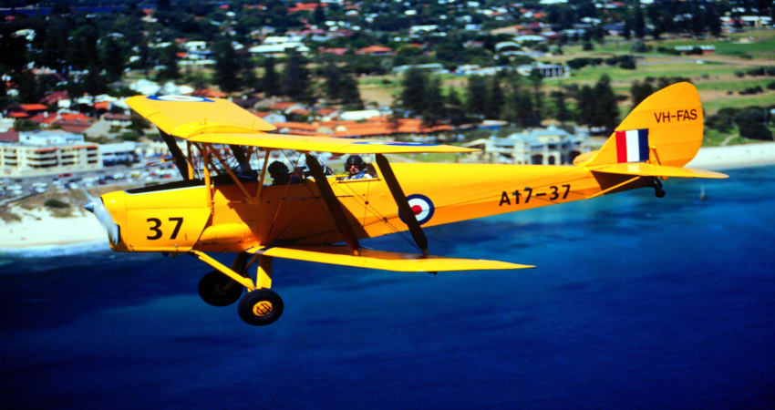 Tiger Moth Scenic Flight, 30 Minutes - Perth