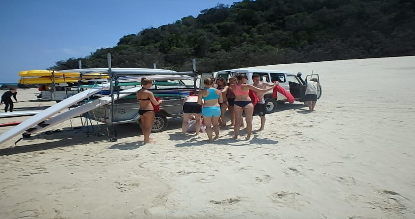 Epic 4WD Beach Drive with Surf Lesson, Half Day - Noosa