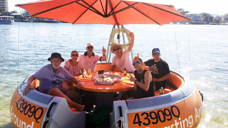 Round Boat Hire, 1 hour - Gold Coast
