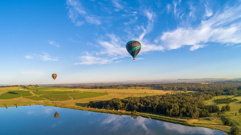 Hot Air Ballooning over the Hunter Valley, Midweek - Flight Only