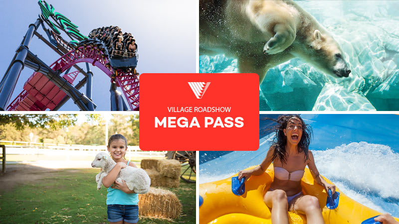 14 Day Mega Pass: Warner Bros. Movie World, Sea World, Wet'n'Wild Gold Coast and Paradise Country