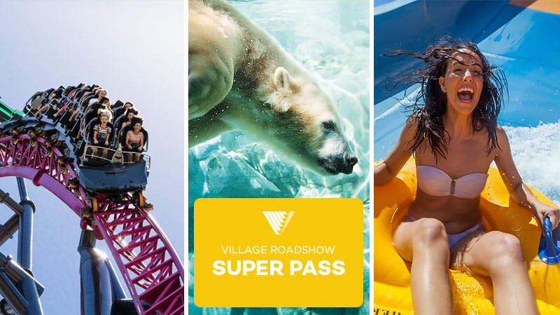 7 Day Super Pass: Warner Bros. Movie World, Sea World & Wet'n'Wild Gold Coast + FREE BONUS Entry to Paradise Country