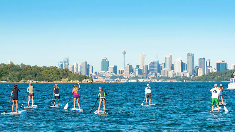 Stand Up Paddle Boarding on Sydney Harbour