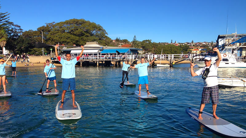 Stand Up Paddle Boarding on Sydney Harbour + Doyles Seafood Picnic
