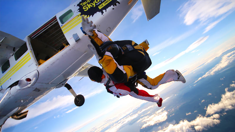 Skydive from 15,000ft over Lake Taupo