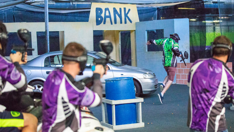 Indoor Paintball and Indoor Go Karting, Adrenaline Attack Pack, Groups of 8 or More - Sydney
