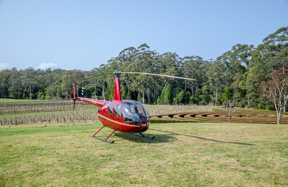 Scenic Helicopter Flight with Chocolate and Wine Tasting and entry to Bago Maze- Port Macquarie