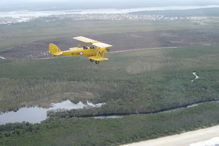 30 Minute Tiger Moth Joy Flight - Caboolture, Moreton Bay