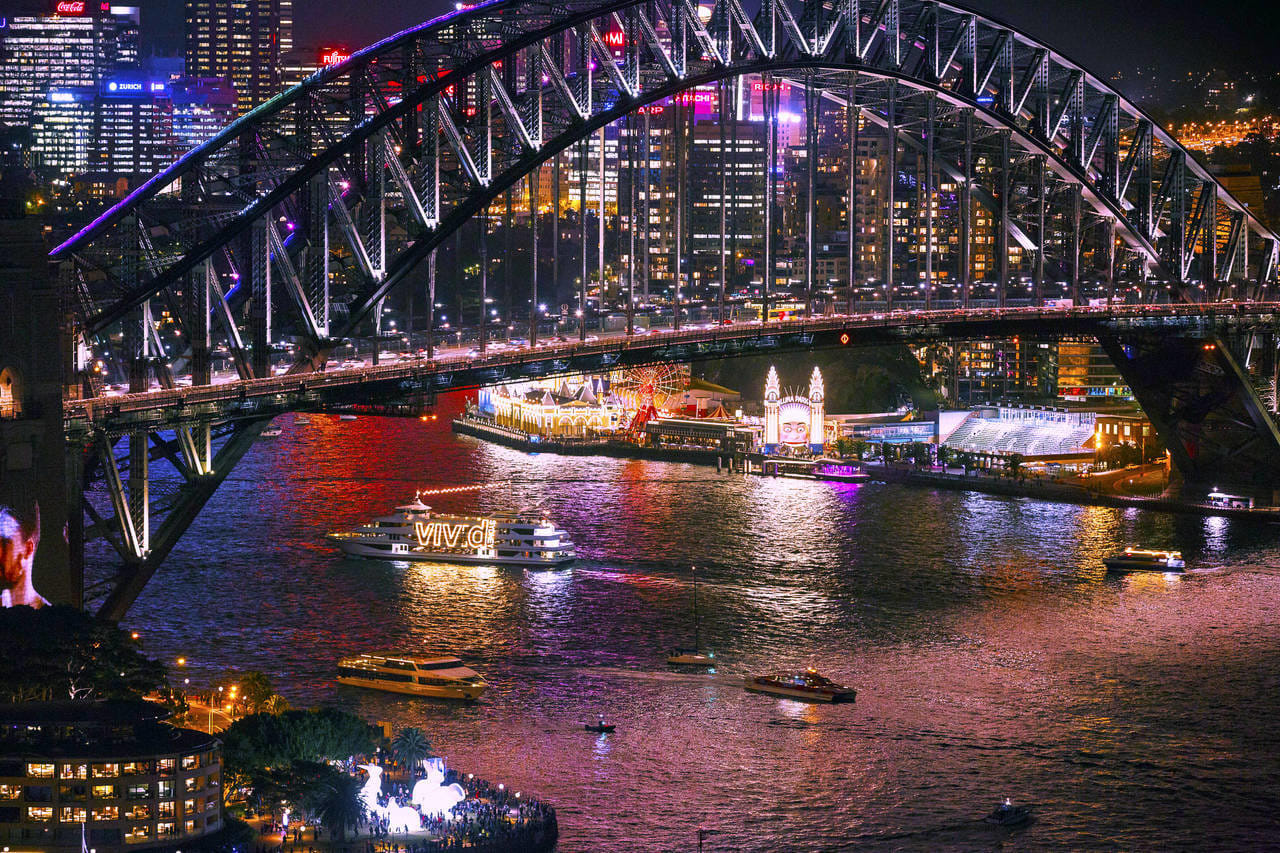 60 Minute Vivid Sydney Lights Evening Cruise