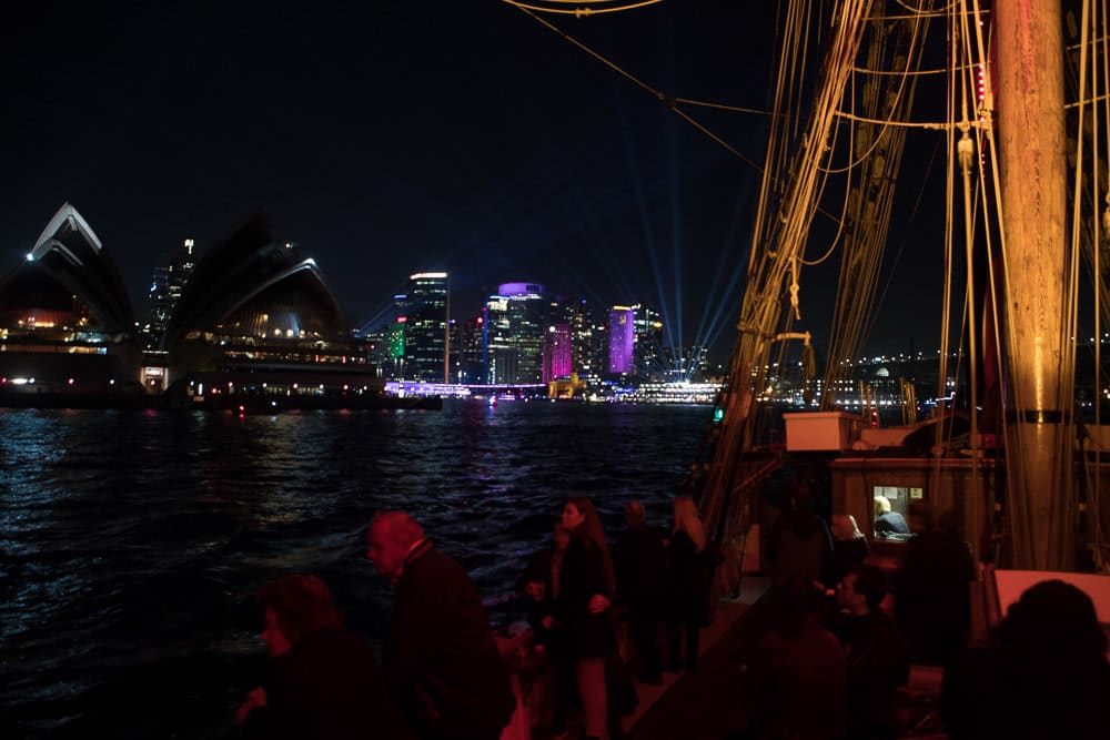 Vivid Sydney Tall Ship Dinner Cruise with Drinks - Midweek