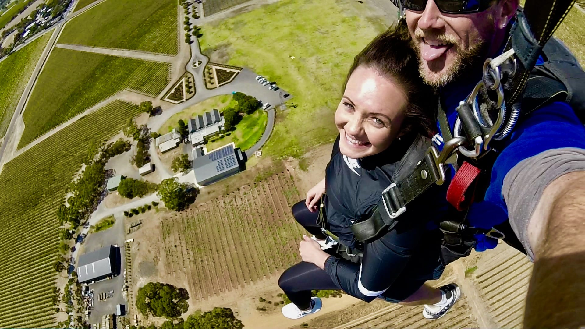 Skydive 15,000ft Over McLaren Vale Adelaide - Vineyard Landing!
