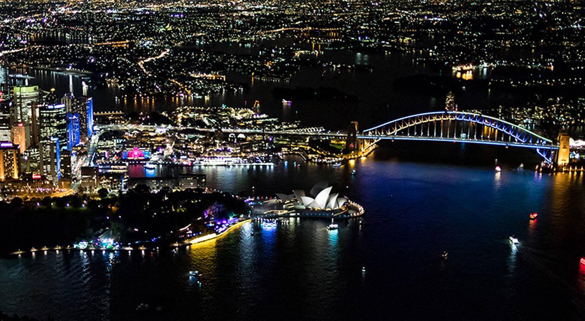 VIVID Sydney Helicopter Night Flight