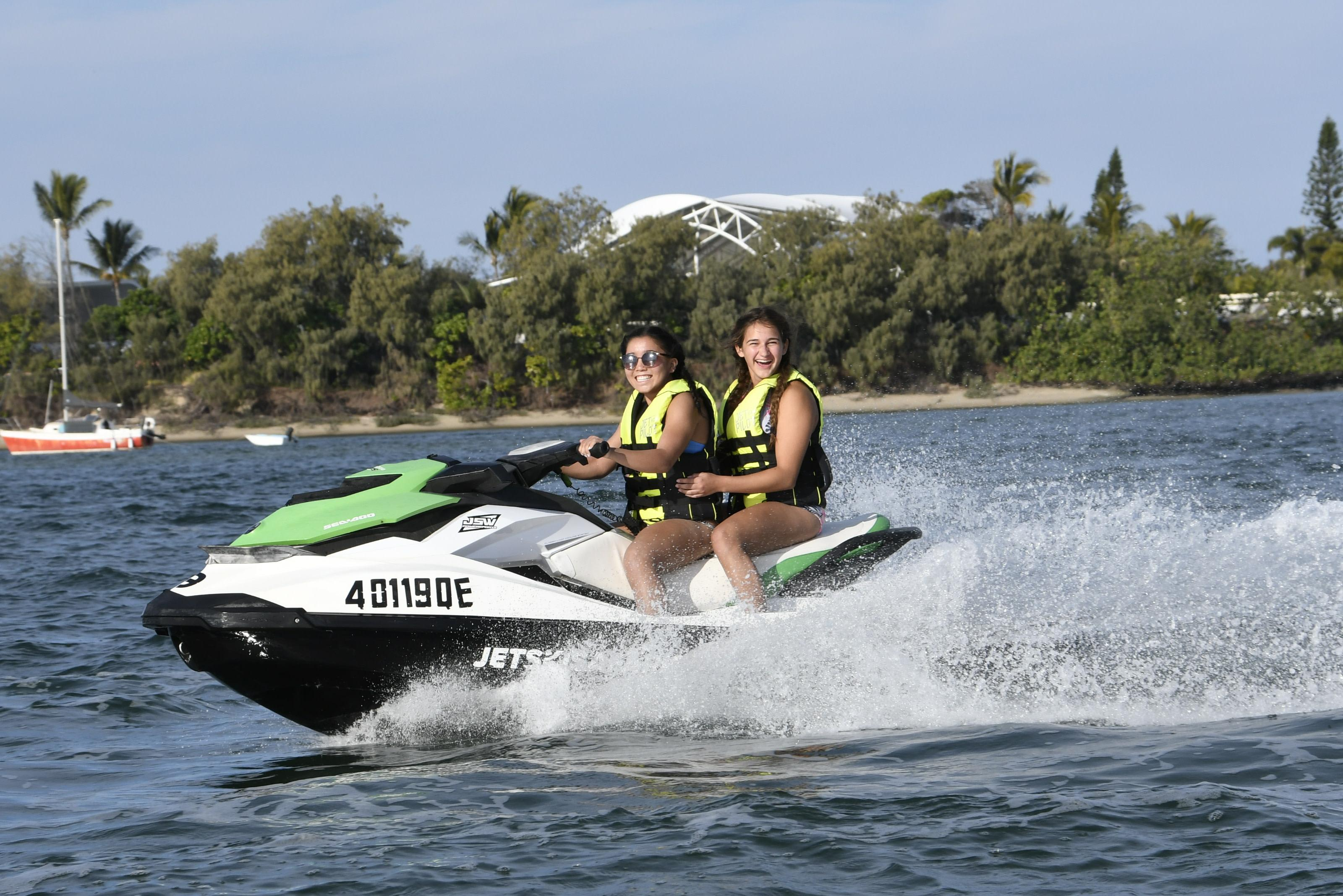 Jet Ski Safari to Stradbroke Island Plus Indoor Skydiving