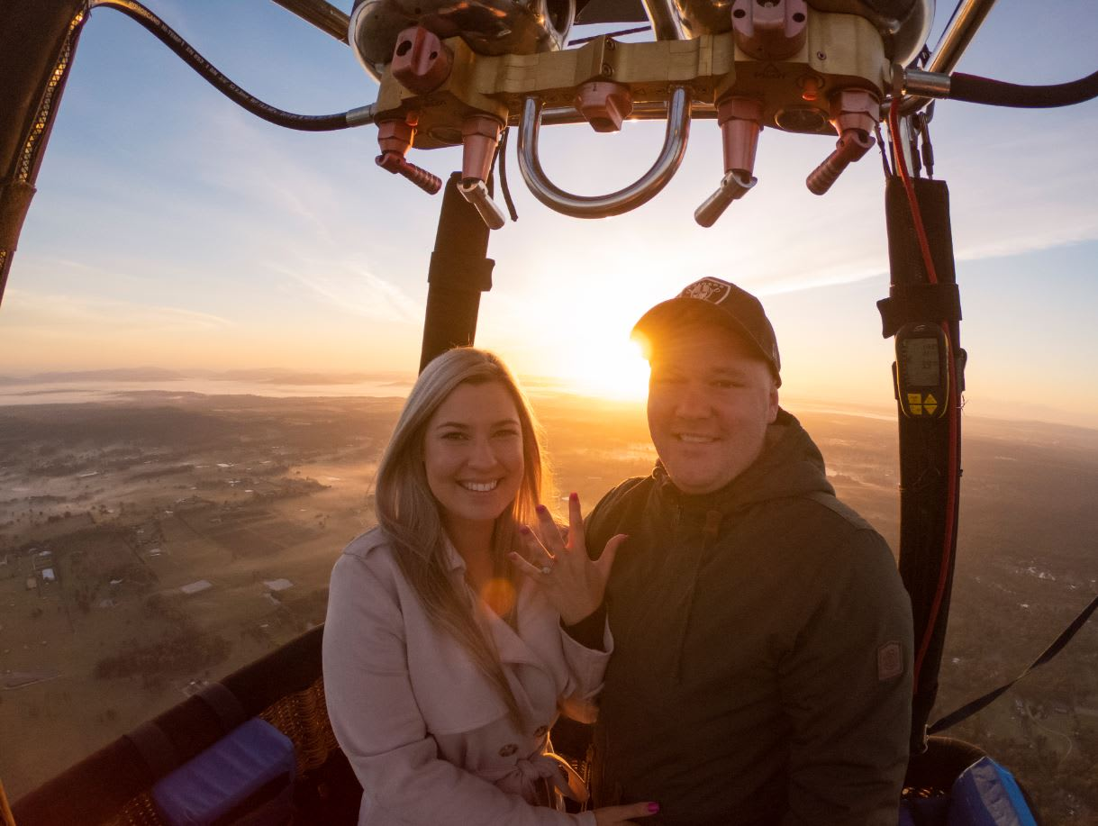 Private Hot Air Balloon Flight over the Hunter Valley with Champagne Breakfast - For 2