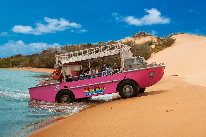 Eurimbula National Park Beach by Amphibious Vessel, Whitsunday Islands