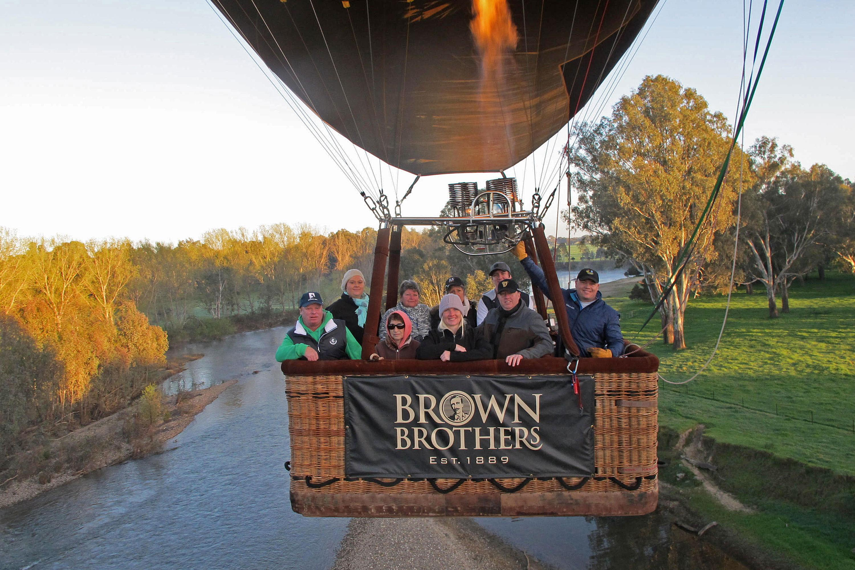 Hot Air Balloon Flight at Sunrise, King Valley