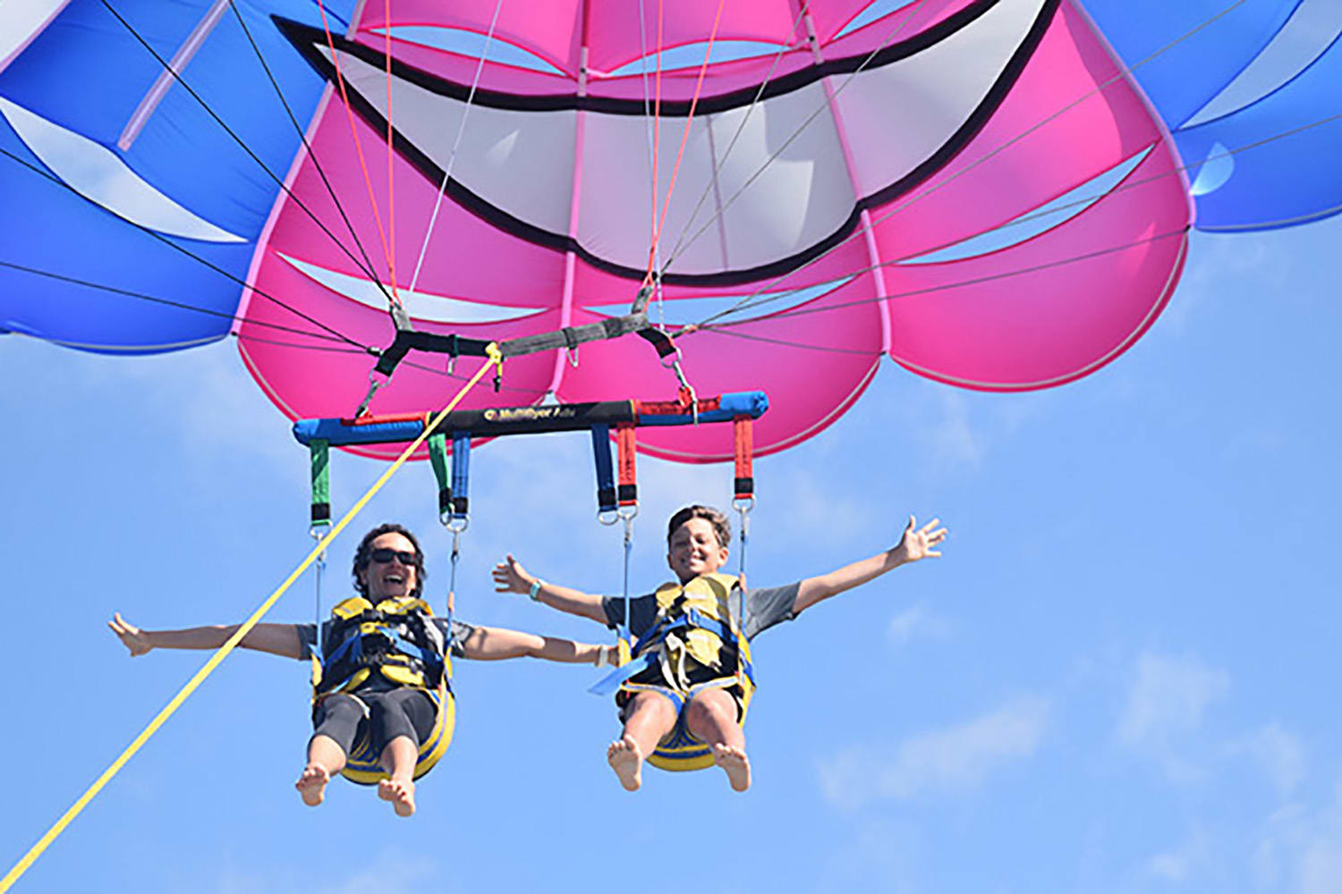 Gold Coast Tandem Parasail and V8 Jet Boat Combo - For 2