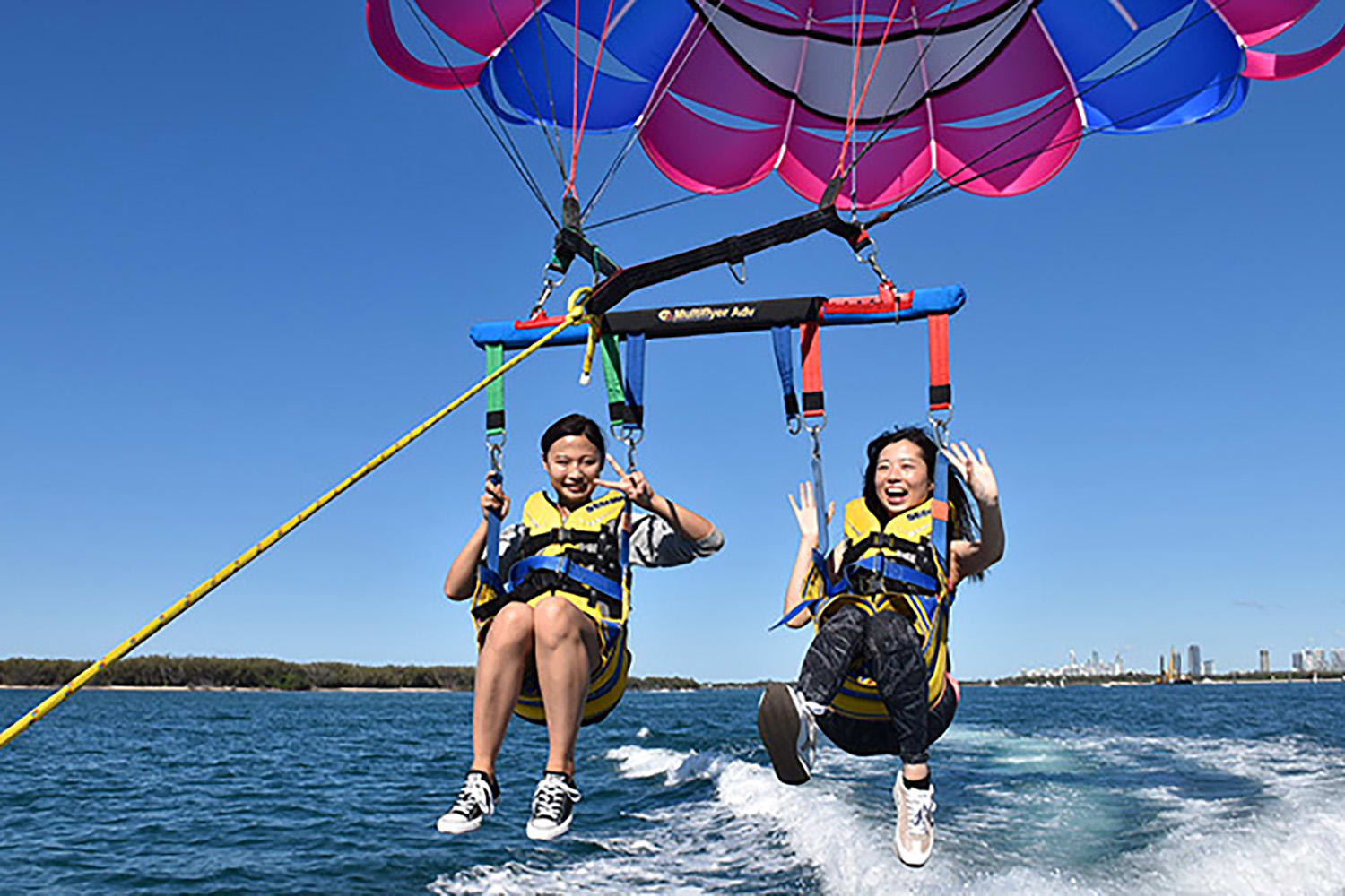 Gold Coast Tandem Parasail and Jet Ski Safari Combo - For 2