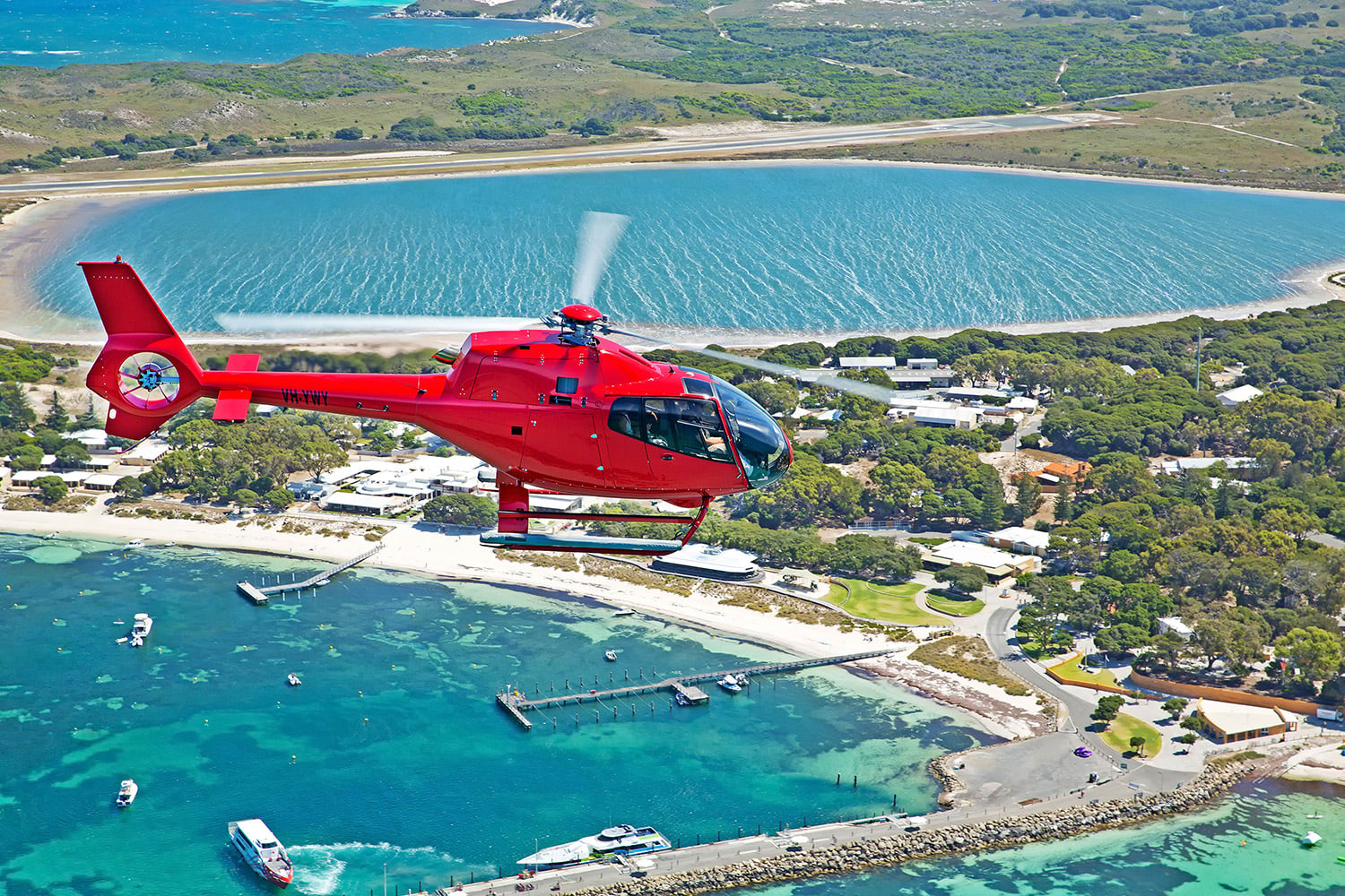 Private Scenic Helicopter Flight For 2 - Rottnest Island