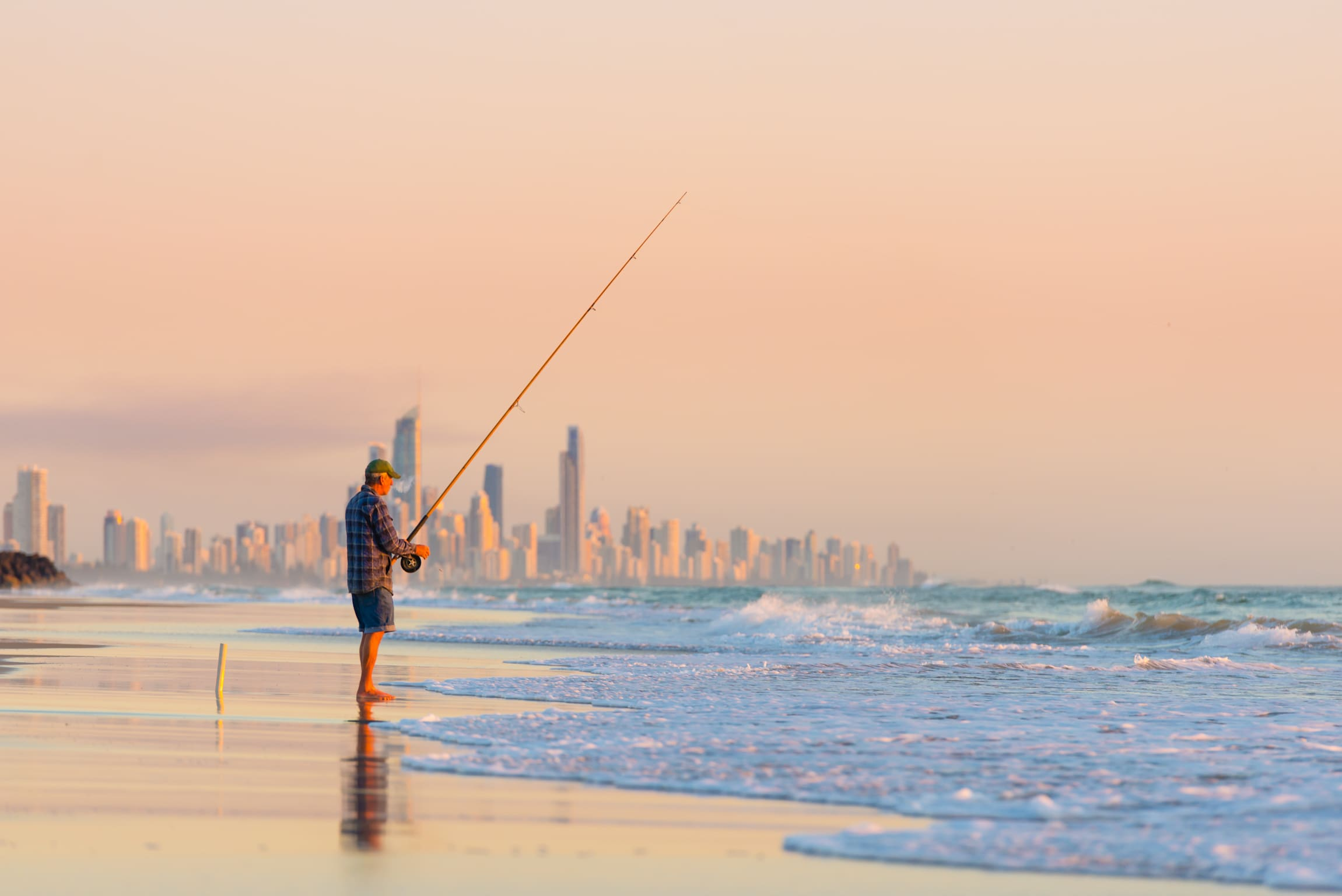 Private Beach Fishing Lesson, 2 Hours - Gold Coast
