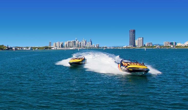 Jet Ski to Stradbroke Island and Jet Boating For 2 - Gold Coast