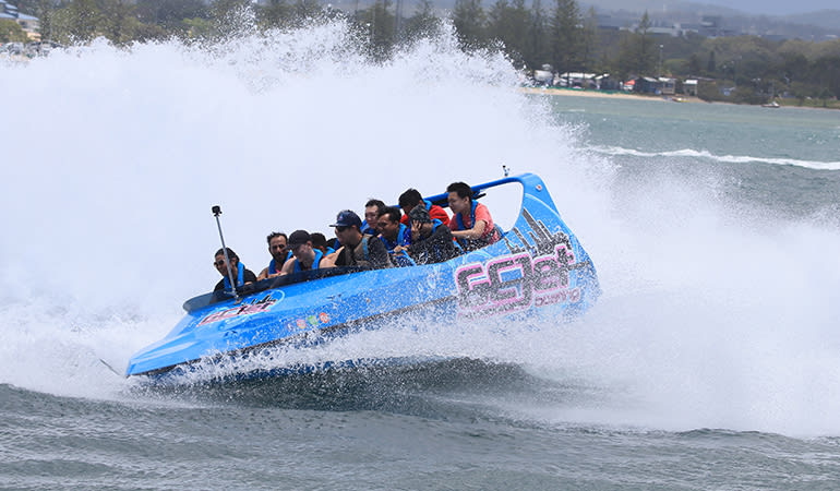 V8 Jet Boat Thrill Ride and Meal - Gold Coast