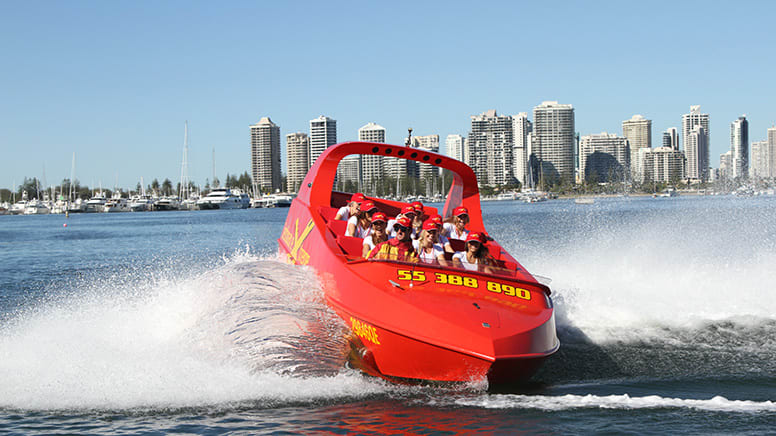 Jet Boat Joy Ride and Surf Lesson - Gold Coast