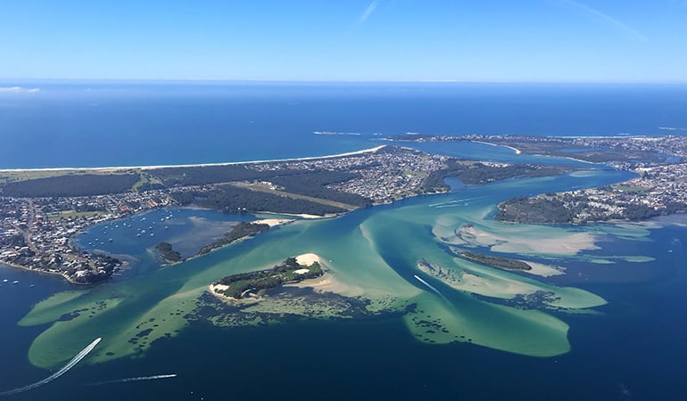 Helicopter Flight, 30 Minutes - Catherine Hill Bay and Lake Macquarie