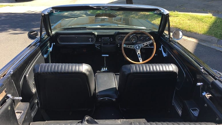 1966 Ford Mustang Convertible Car Hire, 6-hours, Midweek– Moorabbin