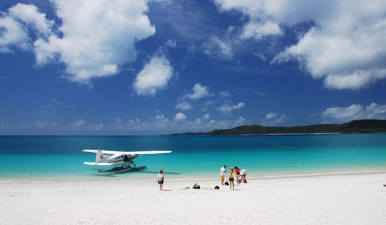 Seaplane Scenic Flight and Whitehaven Beach 1 Hour Visit - Whitsundays
