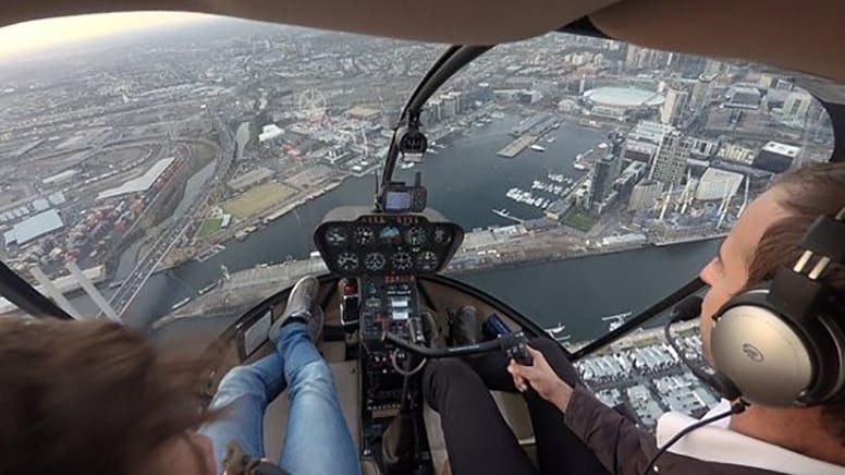 Helicopter Open Doors Scenic Flight – 35 minutes – Melbourne